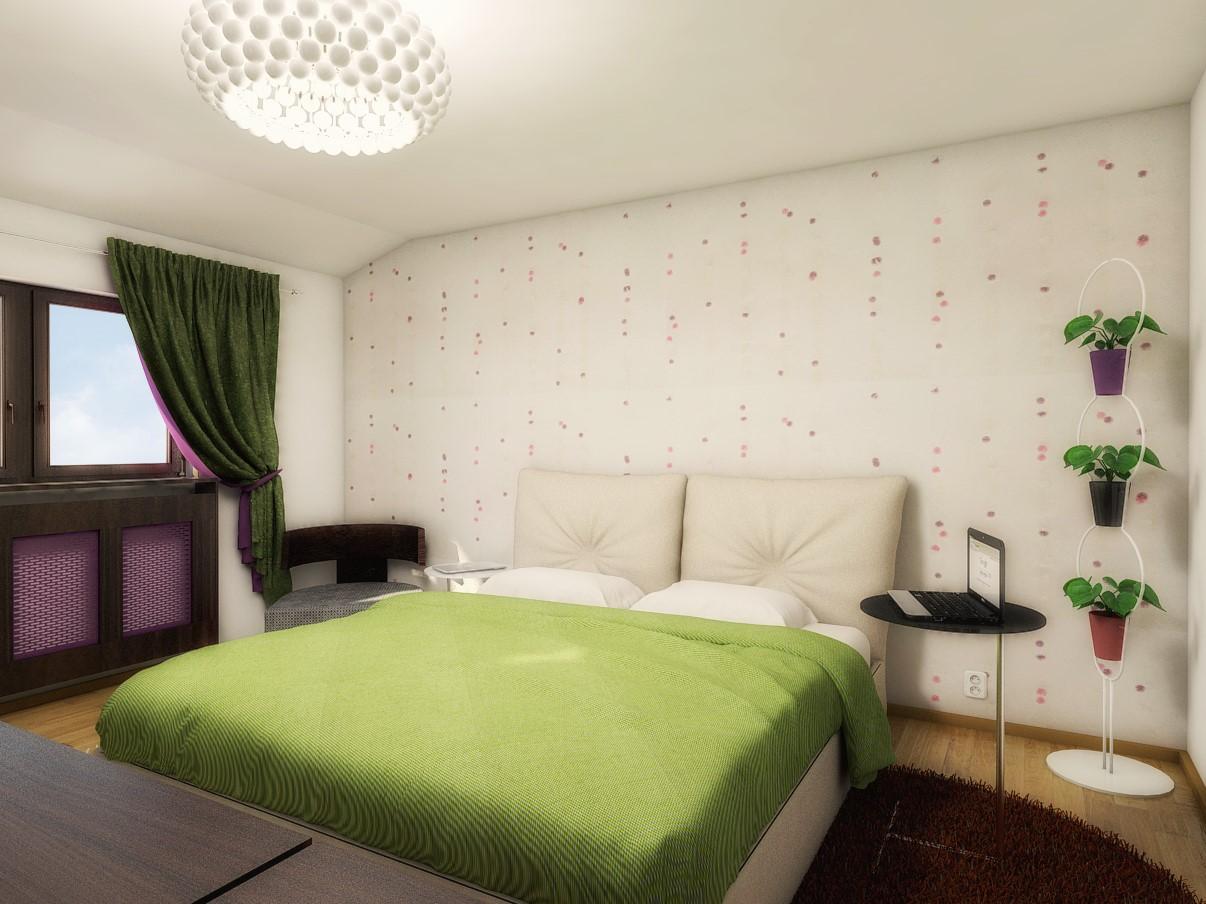 Wallpaper Bedroom design - Black Fox Interiors