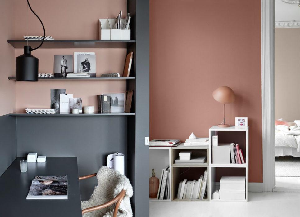 tembok pink dan hitam