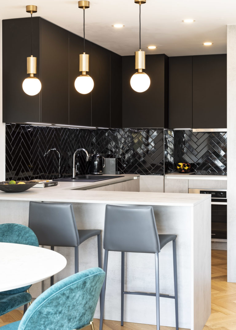 black finish kitchen design