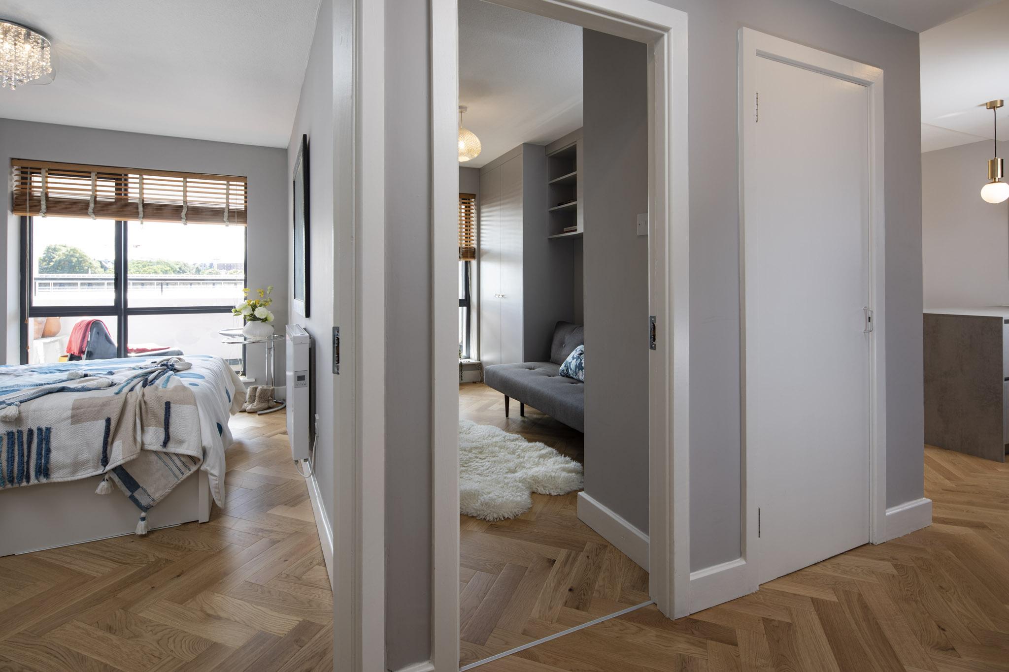 apartment hallway design - Black Fox Interiors