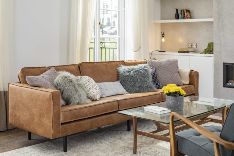 Livingroom leather sofa